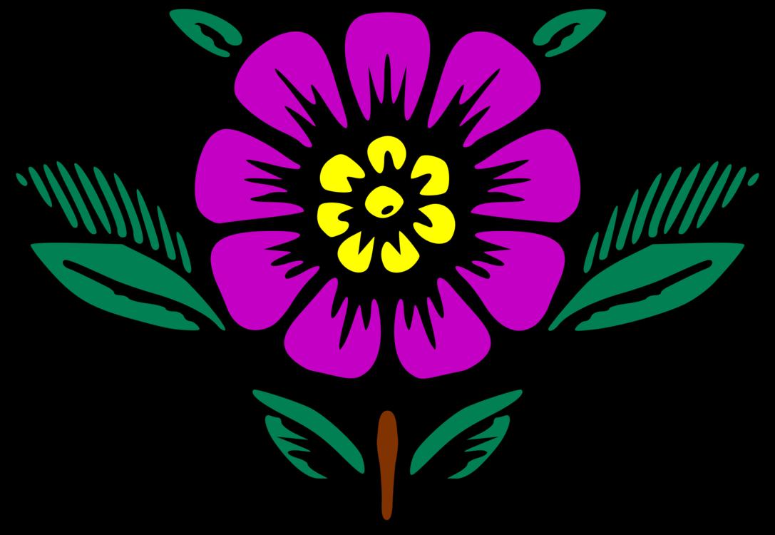 Transparent purple floral clipart - Drawing Floral Design Flower Cartoon Map - Violet Flower Cartoon Drawing