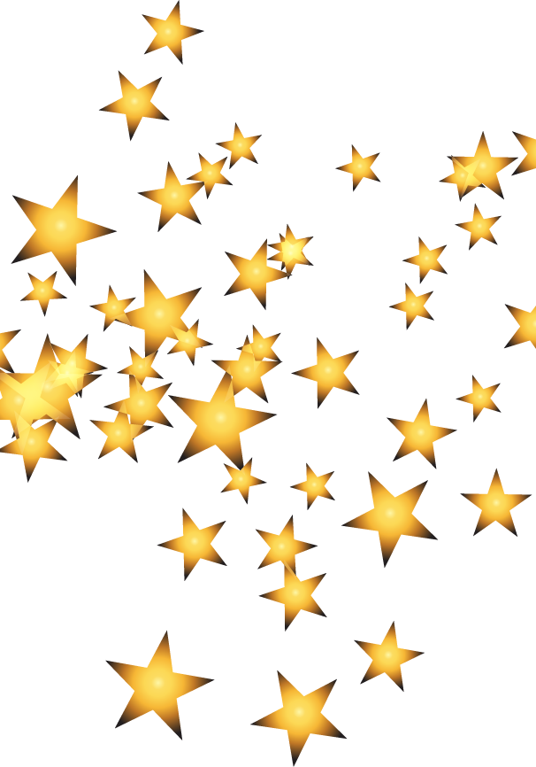 Transparent gold star clipart - Gold Stars - Stars Gold Png