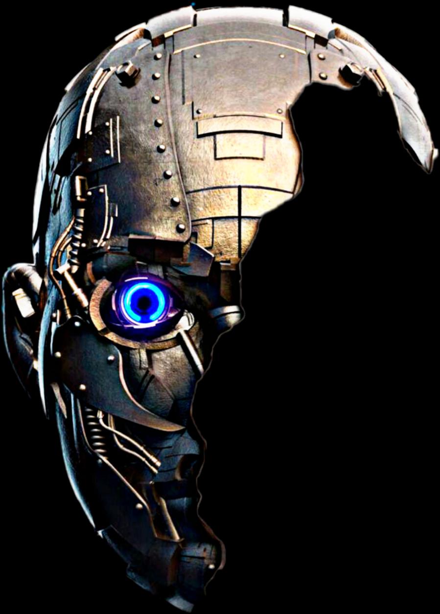 Transparent robot face clipart - #robot #face #freetoedit - Robot Hand Png Picsart