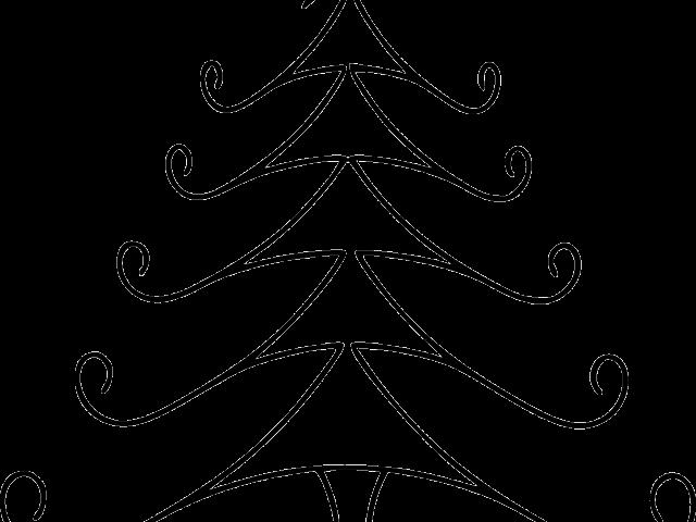 Transparent simple christmas clipart - Simple Clipart Christmas - Line Drawing Christmas Tree