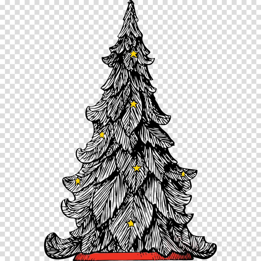 White Christmas Tree Png Transparent.Black And White Christmas Tree Art Clipart Christmas Dark