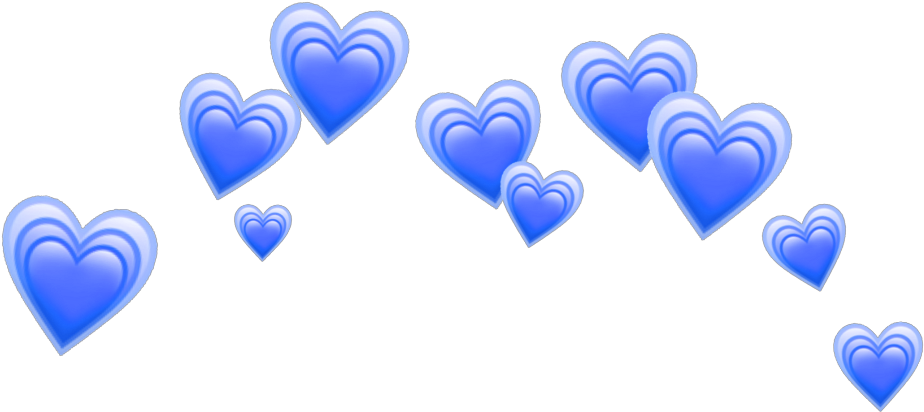 Transparent blue hearts clipart - Heart Emoji Crown Png