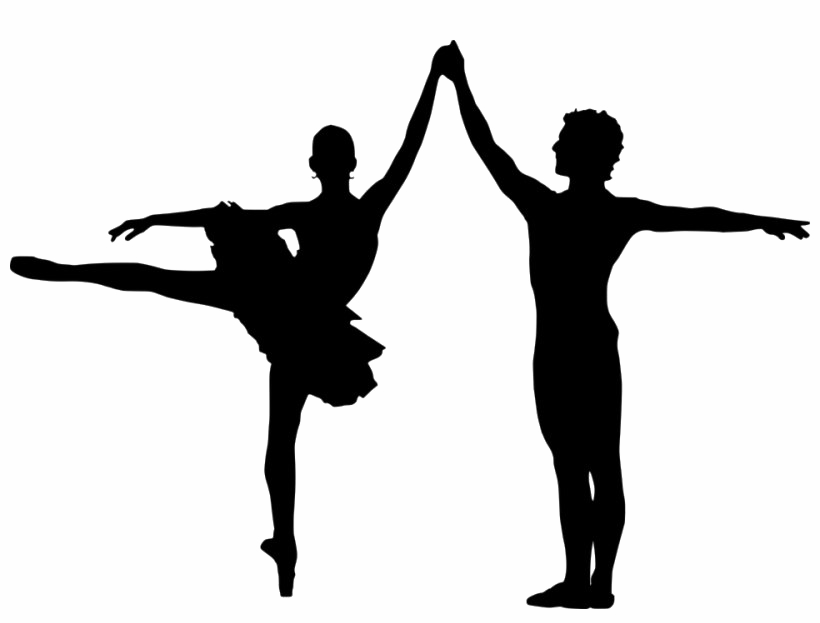 Transparent figure skating silhouette clip art - Male Ballet Silhouette Png