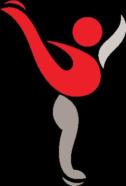 Transparent figure skating silhouette clip art - Illustration