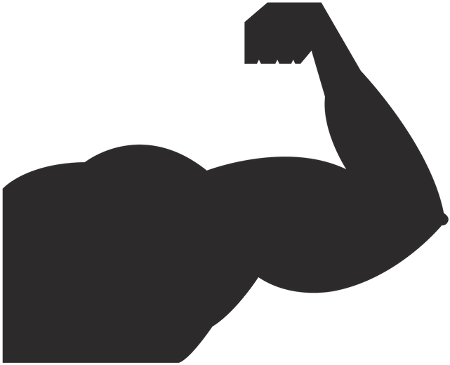 Transparent strong man silhouette clip art - Strong Vector
