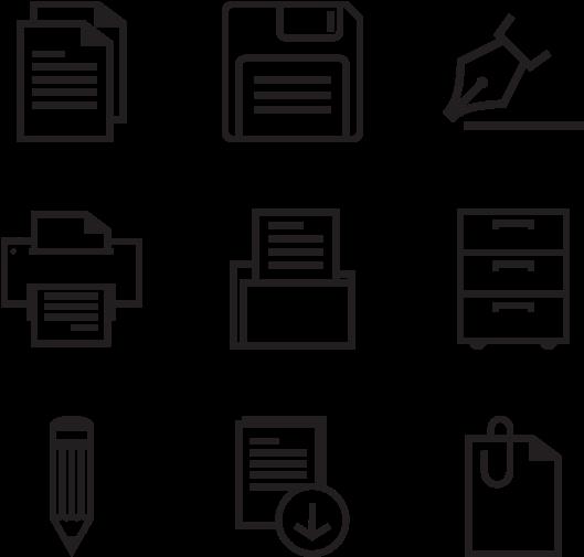 Transparent pencil line clipart - Web Design Content Icon
