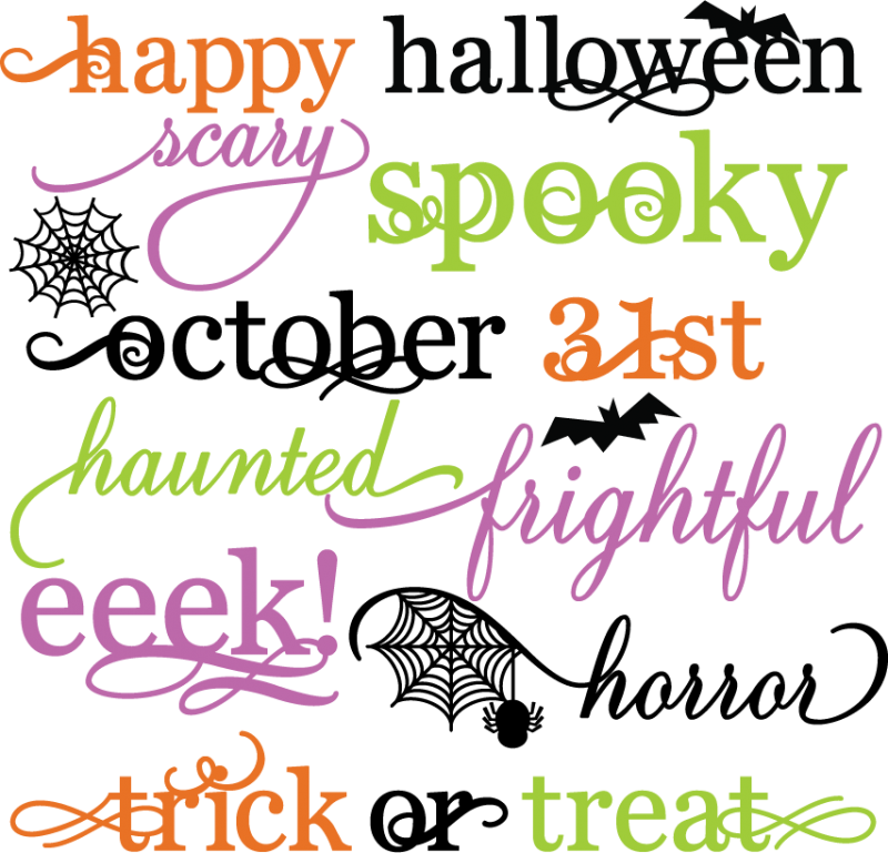 Transparent halloween word clipart - Athabasca University