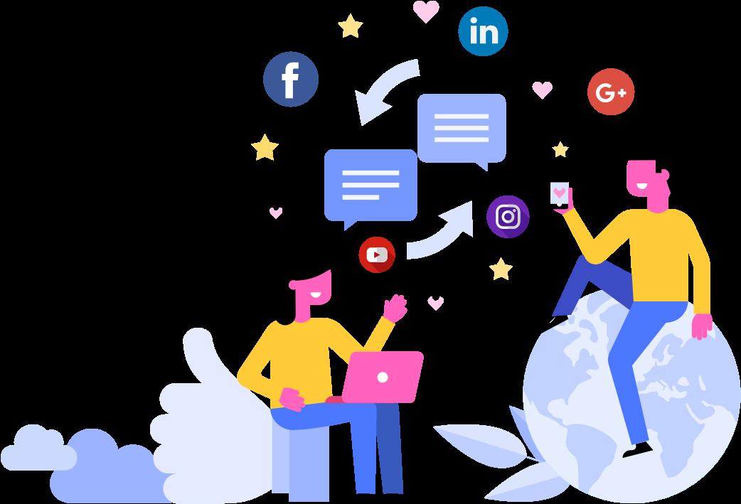 Transparent social media clipart png - Social Media Sharing Clipart