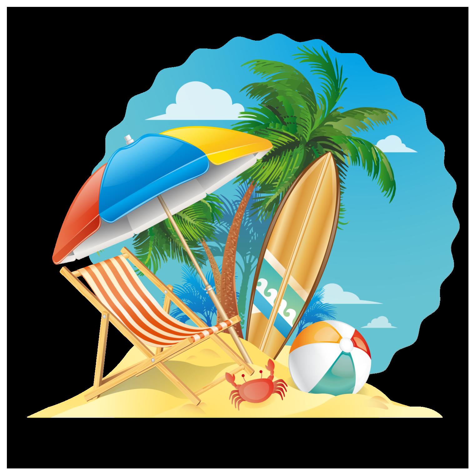 Beach Beach Scene Summer Logo Transparent Cartoon Jing Fm