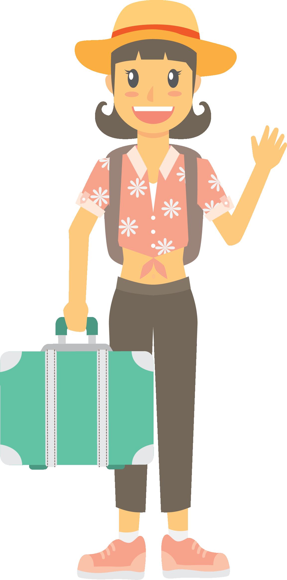Transparent holiday sale clipart - Cartoon Tourist Transparent Background