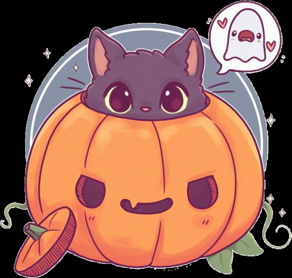 Halloween Cute Cat Drawing Transparent Cartoon Jing Fm