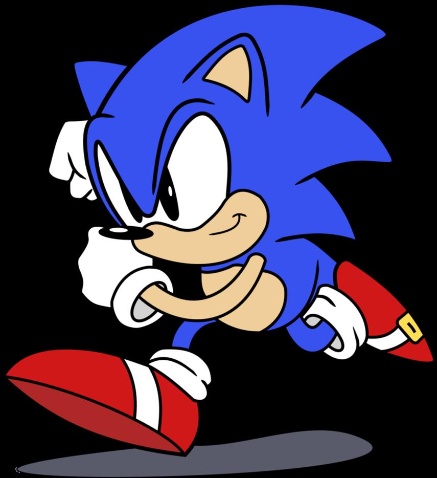 Sonic The Hedgehog Classic By Classic Sonic The Hedgehog Running Transparent Cartoon Jing Fm