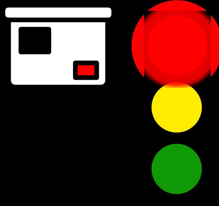 Transparent traffic light clipart - Red Light Camera Icon
