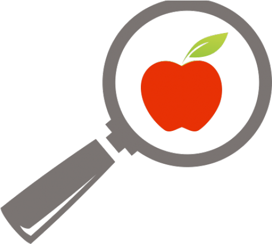 Transparent healthy food clipart - Healthy Food Clipart Health Conscious - Magnifying Glass Over Food