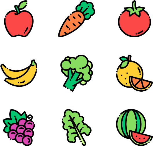 Produce Vector Healthy Fruits And Vegetables Png Transparent Cartoon Jing Fm