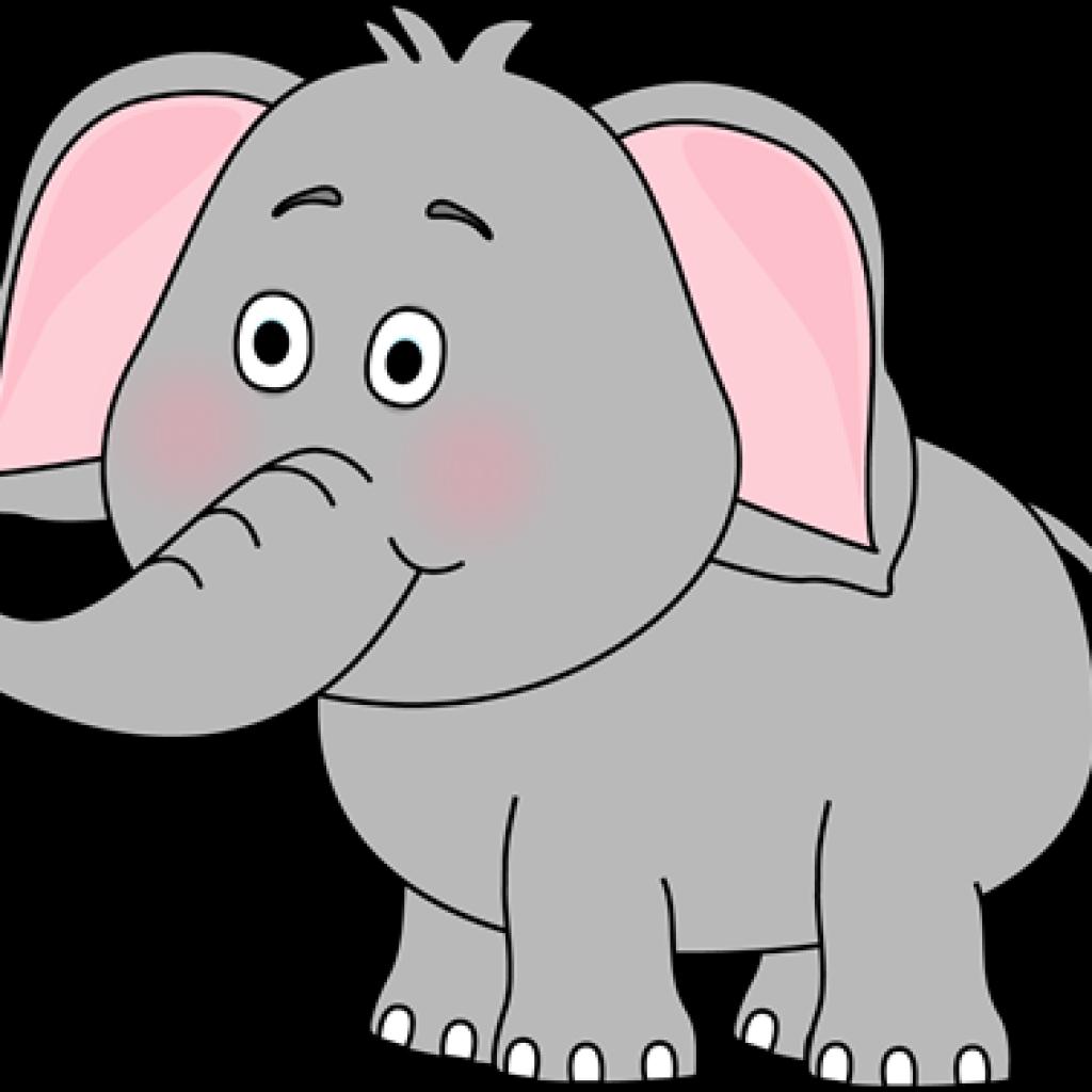 Transparent cute elephant clip art - Living Things Clip Art