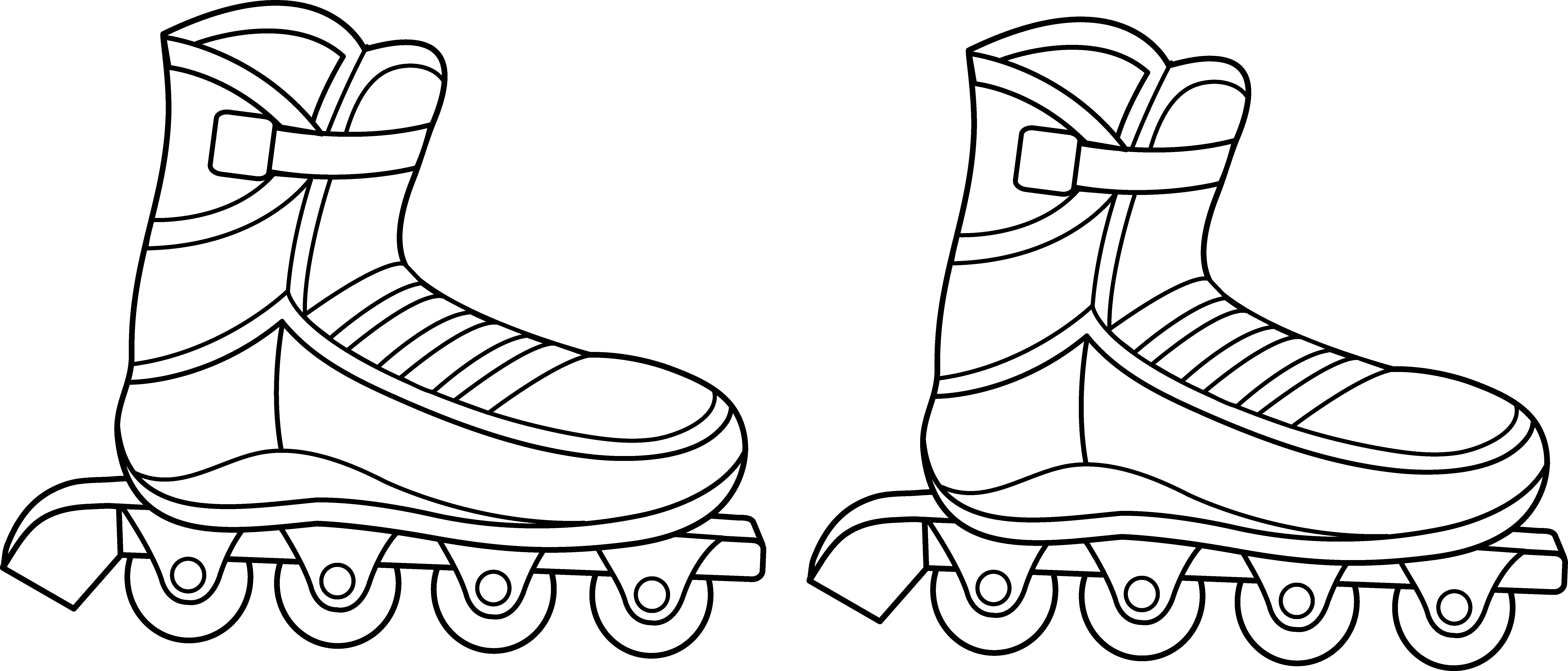 Barbie on roller skates - Coloring pages for you | 3411x7975