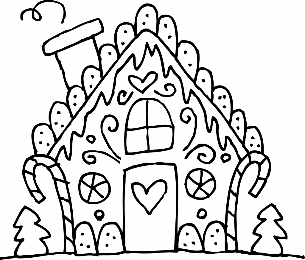 Transparent whoville sign clipart - Christmas Coloring Pages Printable Gingerbread House