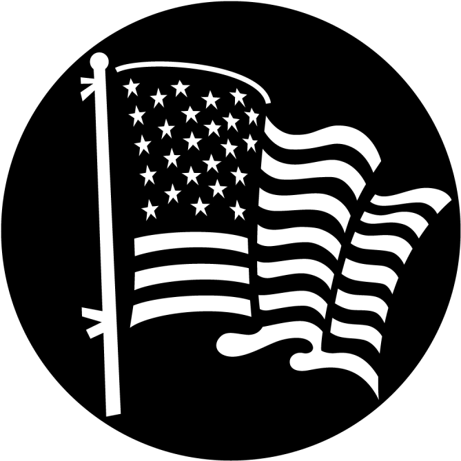 American Flag Background Black And White Free Transparent