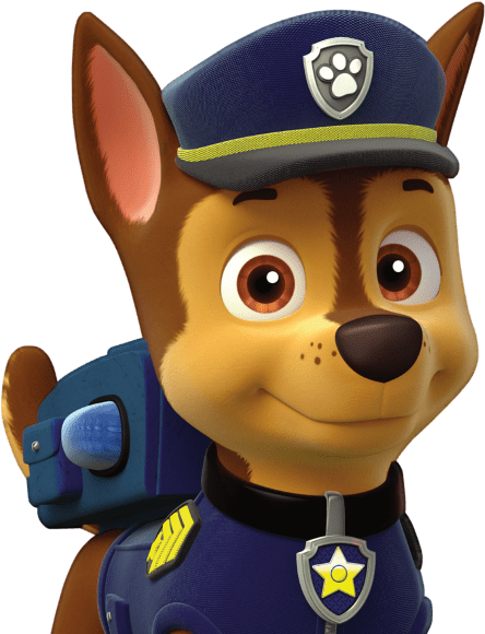 Transparent chase paw patrol clipart black and white - Chase Paw Patrol Png