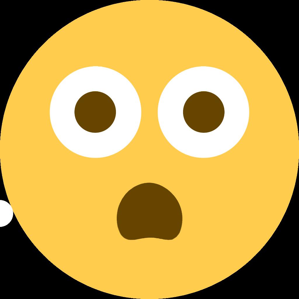 Transparent shh emoji clipart - Discord Emoji Scared