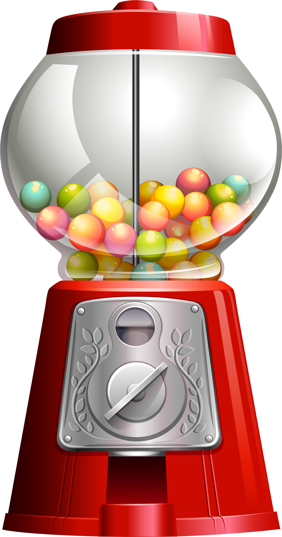 Transparent gumball machine clipart - Candy ‿✿⁀°••○ Emoji - Candies Vending Machines Vectors