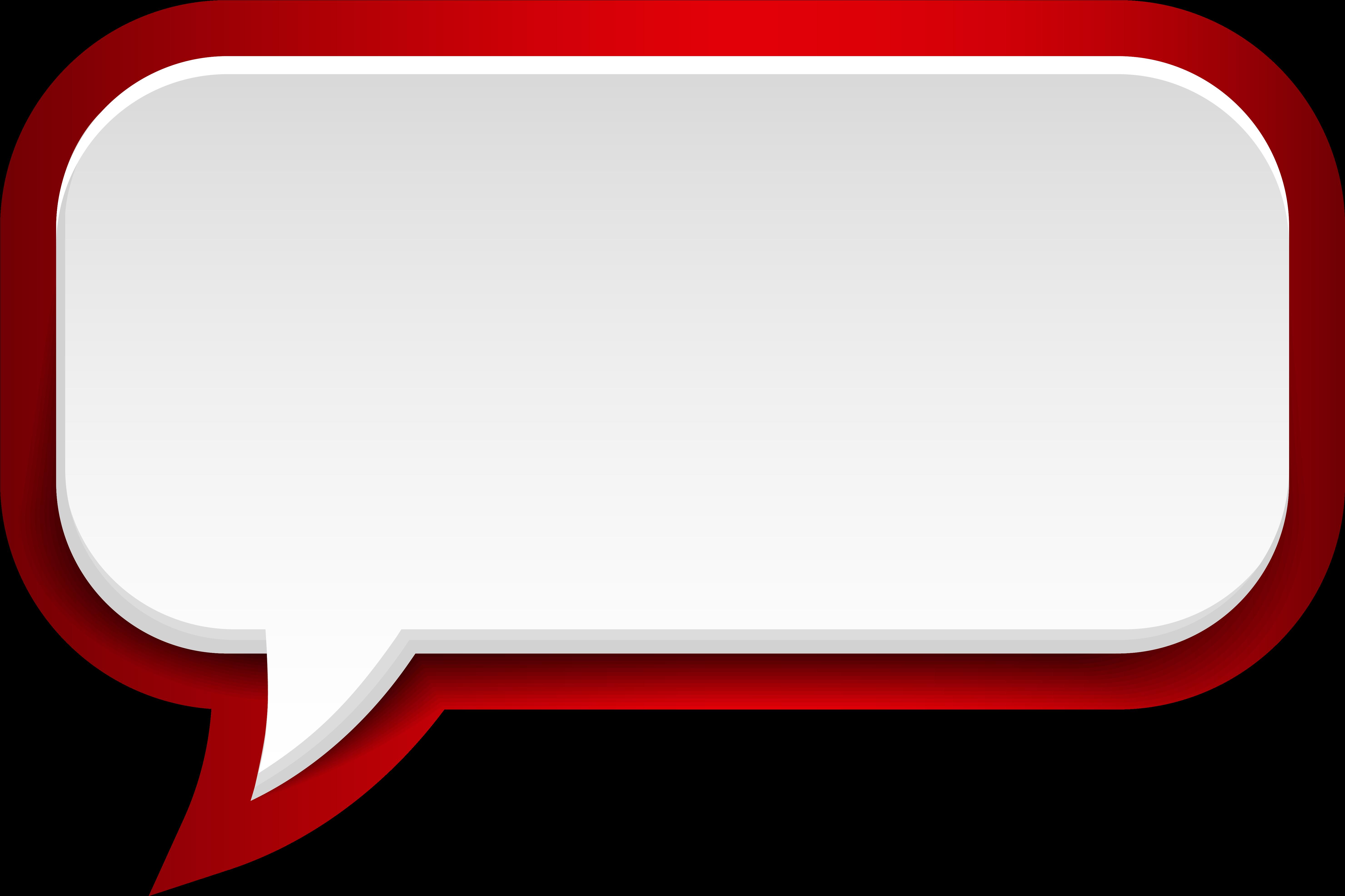 Transparent speech bubble clipart - Speech Bubble Clipart Transparent Background - Red Speech Balloon Png