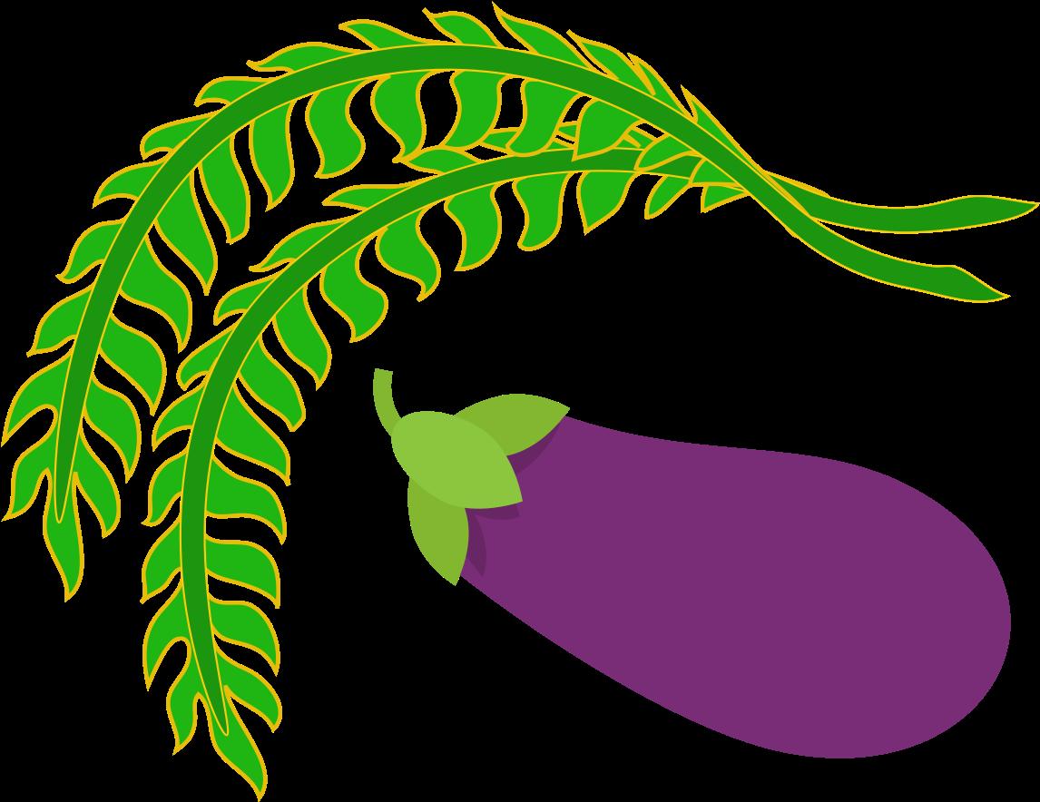 Transparent eggplant plant clip art - Vp Logo Png