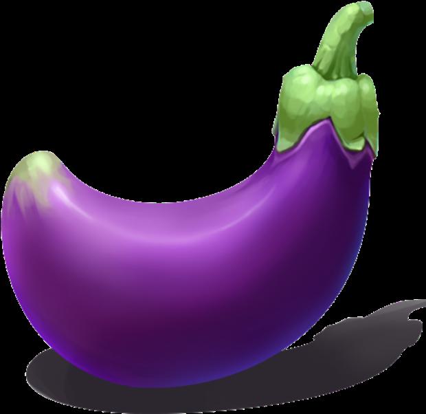 Transparent eggplant plant clip art - Clip Art