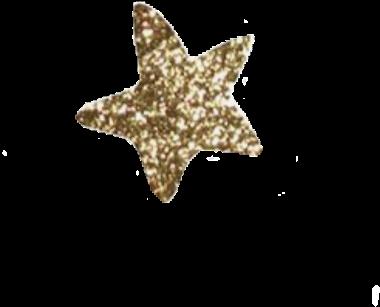 Transparent gold glitter star clipart - #star #stars #gold #glitter #sticker #edit #goldglitter - Marine Invertebrates