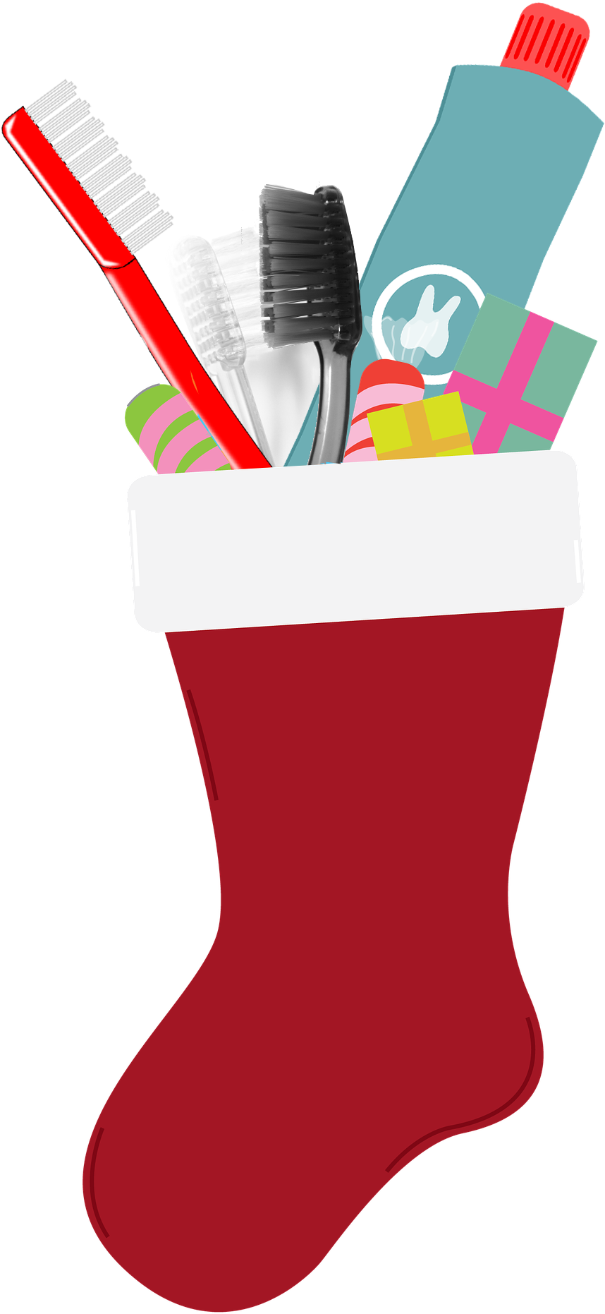 Transparent stocking clipart - Clip Library Library Stocking Stuffer Clipart - Christmas Stocking
