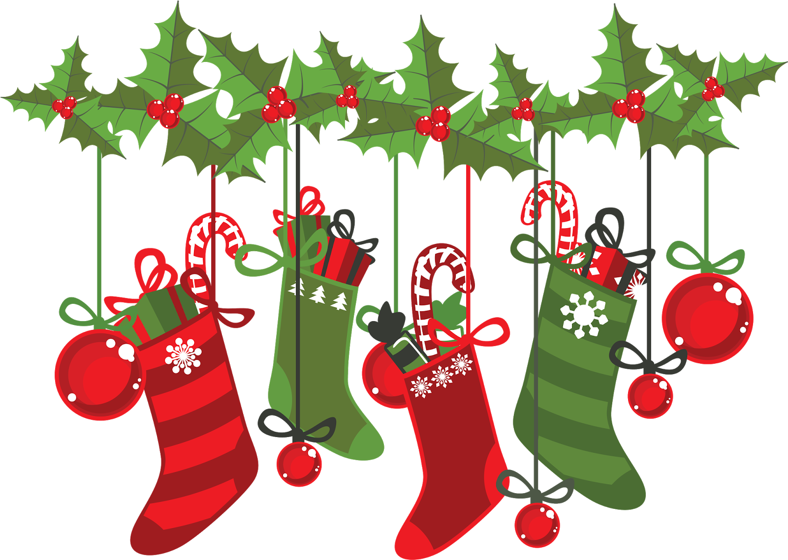 Transparent stocking clipart - Large Size Of Christmas - Christmas Stockings Clip Art