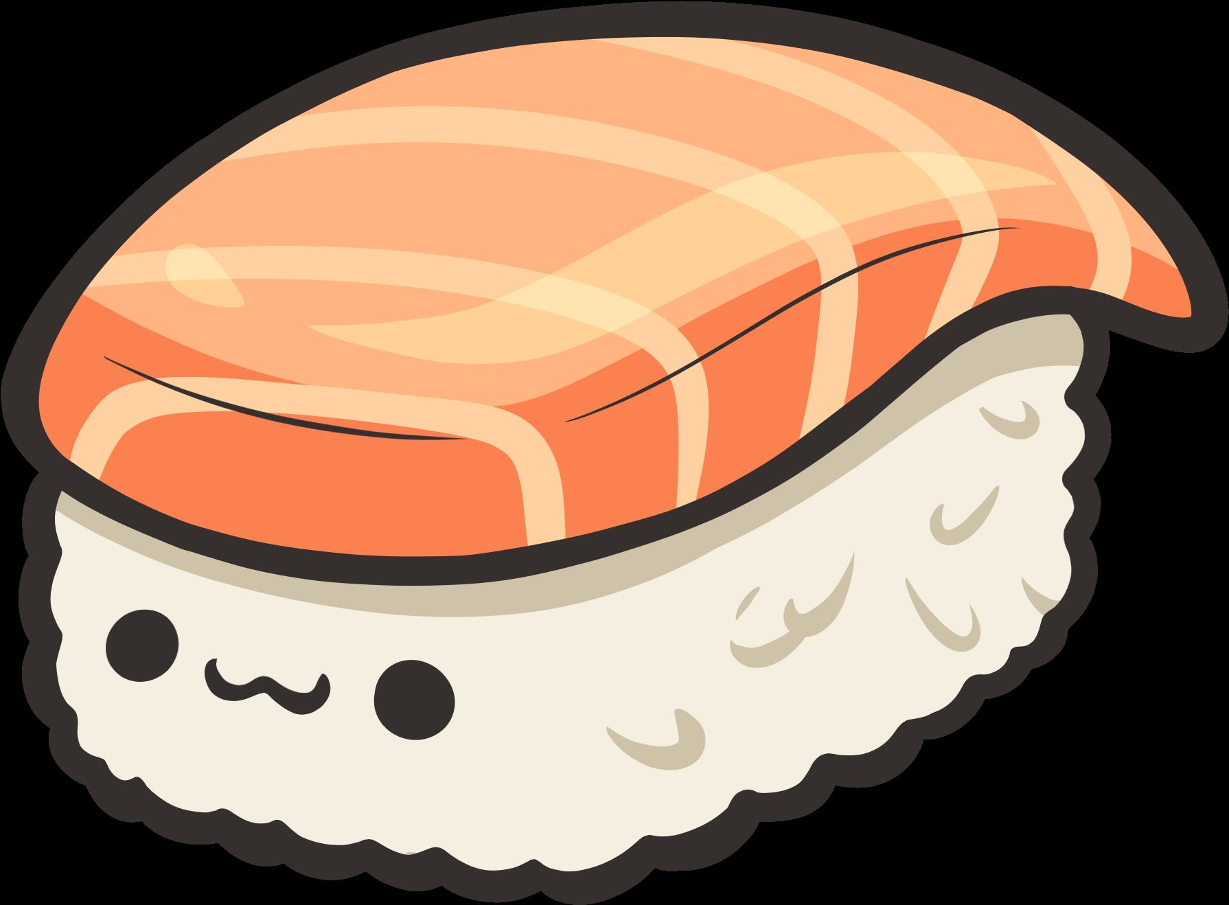 Sushi Draw Kawaii Transparent Cartoon Jing Fm