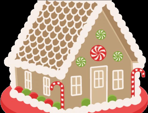 Transparent gingerbread man clipart - Cute Gingerbread House Clip Art