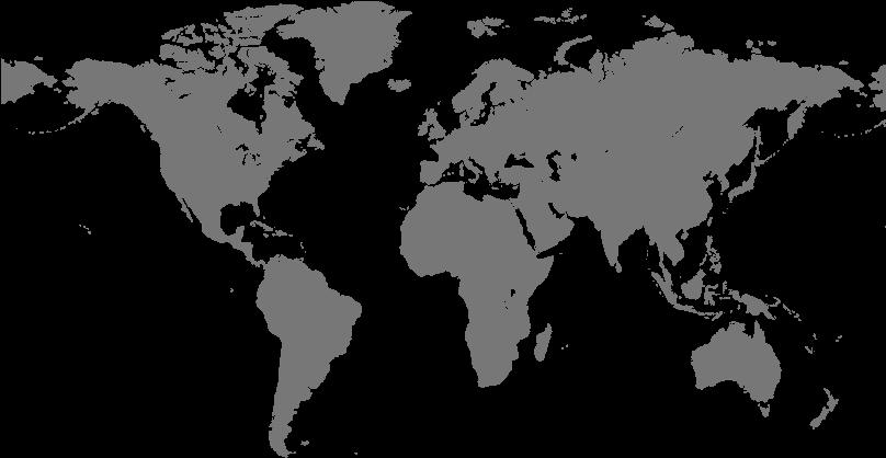 Transparent kostenlose cliparts - Cumulative Shipments - Simple Colour World Map
