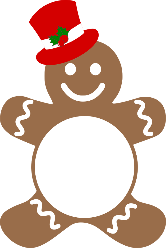 Transparent gingerbread man clipart - A New Gingerbread Man Has Been Added To Our Collection - Free Gingerbread Man Vector