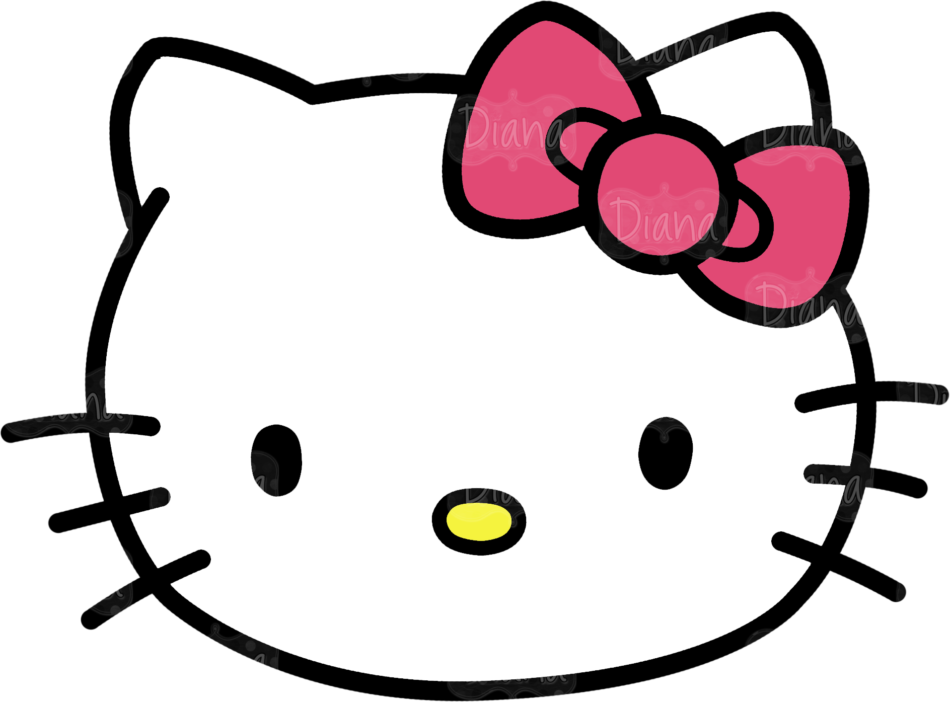 Transparent head clipart - Hello Kitty Head Clipart Pictures - Hello Kitty Head Png