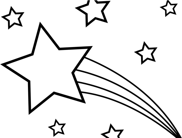 Transparent shooting star clipart - Shooting Star Clipart Line Art - Government Cheese Gif