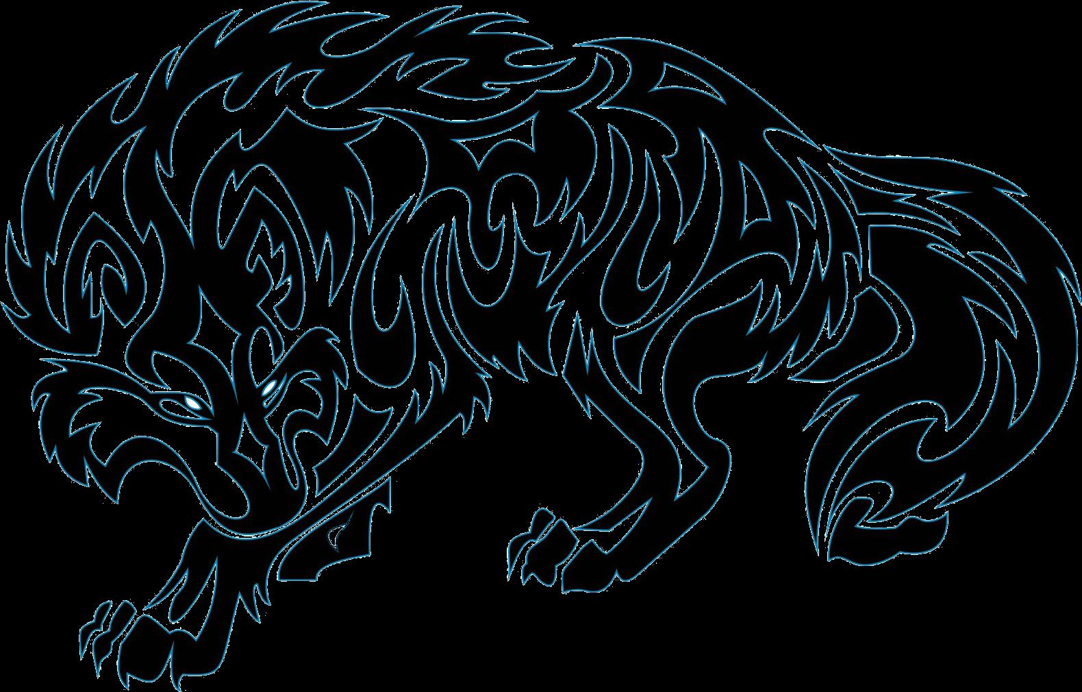 Transparent tattoo machine clip art - Gray Wolf Old School Sleeve Tattoo Tattoo Machine - Tribal Wolf Tattoo