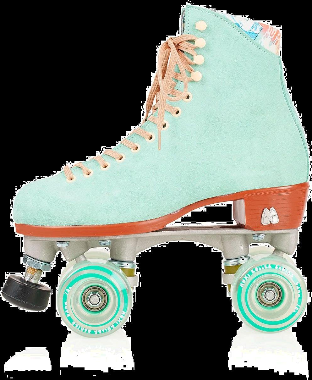 Transparent roller skate silhouette clip art - Artistic Roller Skating - Pastel Retro Roller Skates