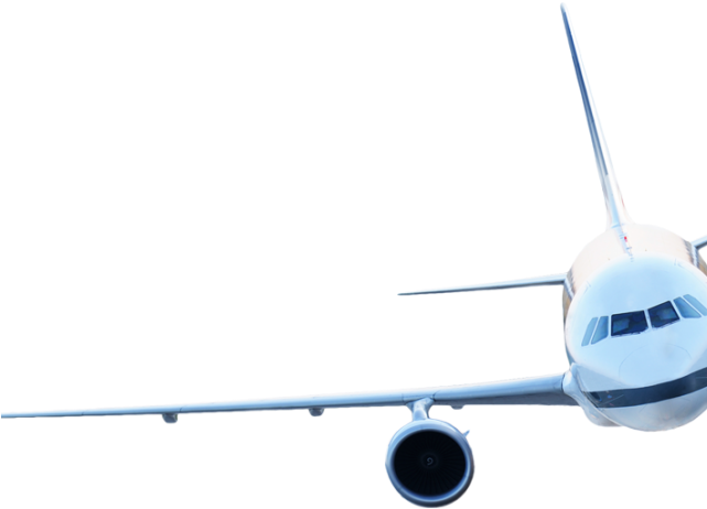 silhouette airplane png transparent