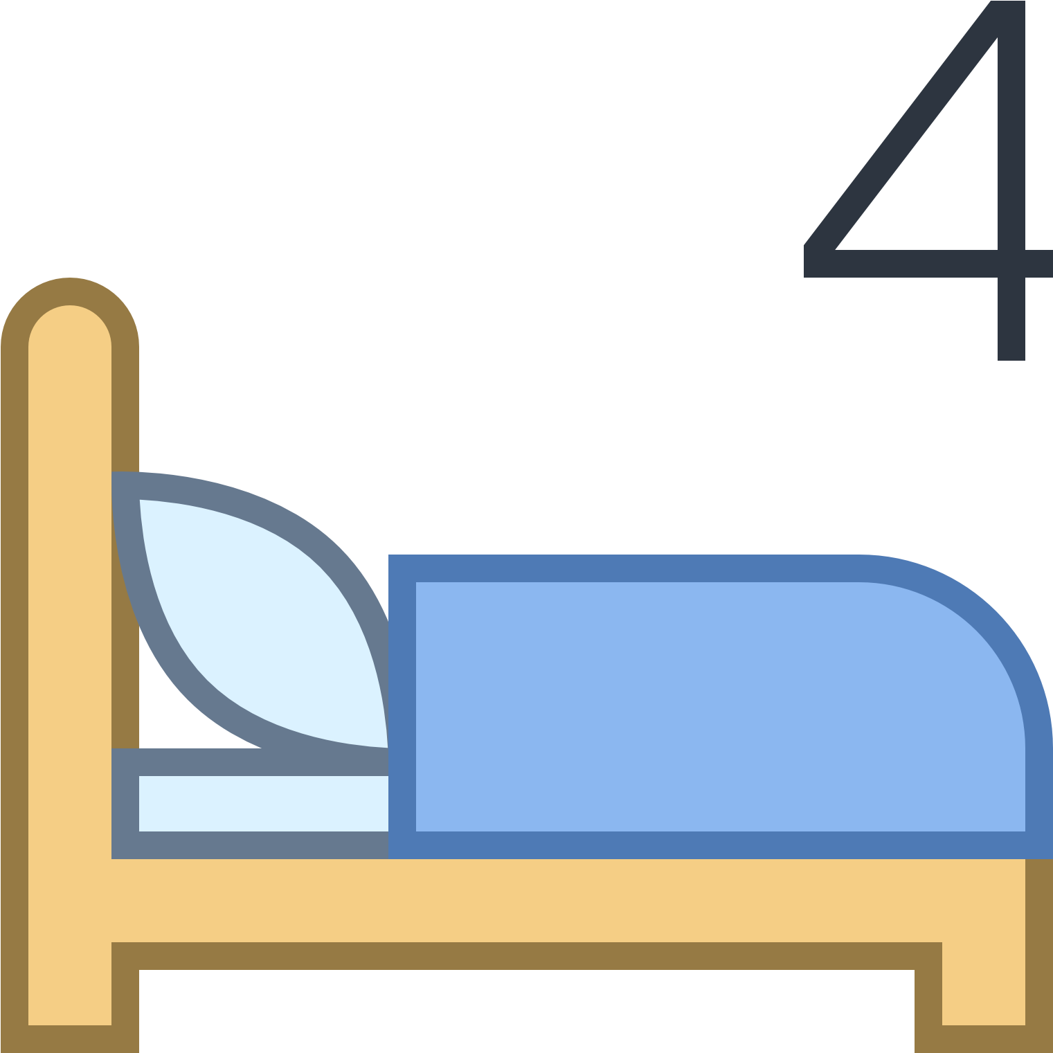 Transparent make bed clip art - Make The Bed Icon
