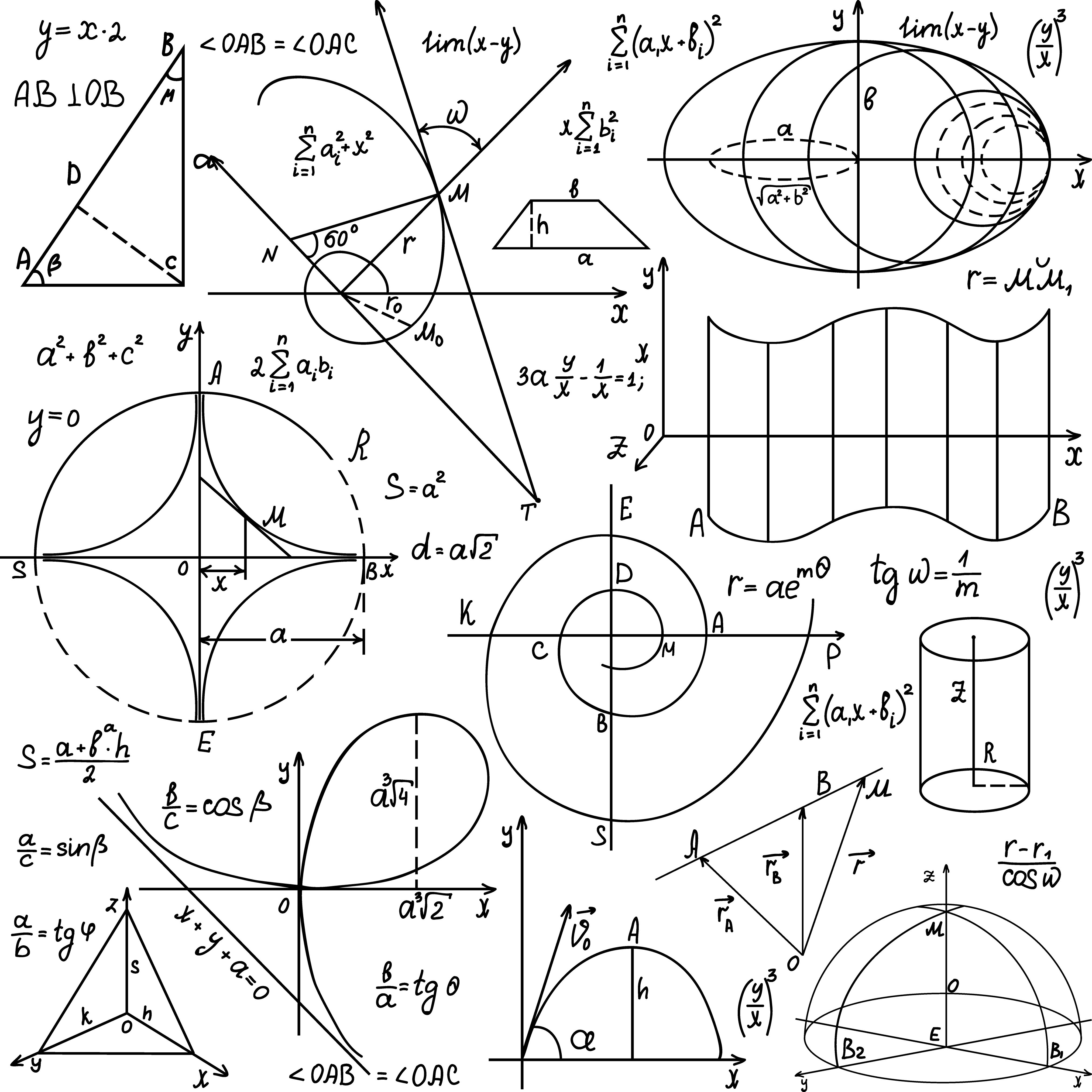 Mathematics Euclidean Vector Geometry Formula Transparent Background Math Png Transparent Cartoon Jing Fm