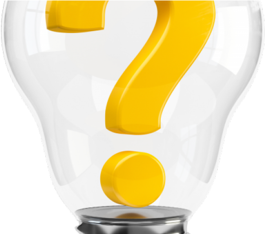 Transparent lightbulb clipart - Question Mark Clipart Lightbulb - Light Bulb With Question Mark