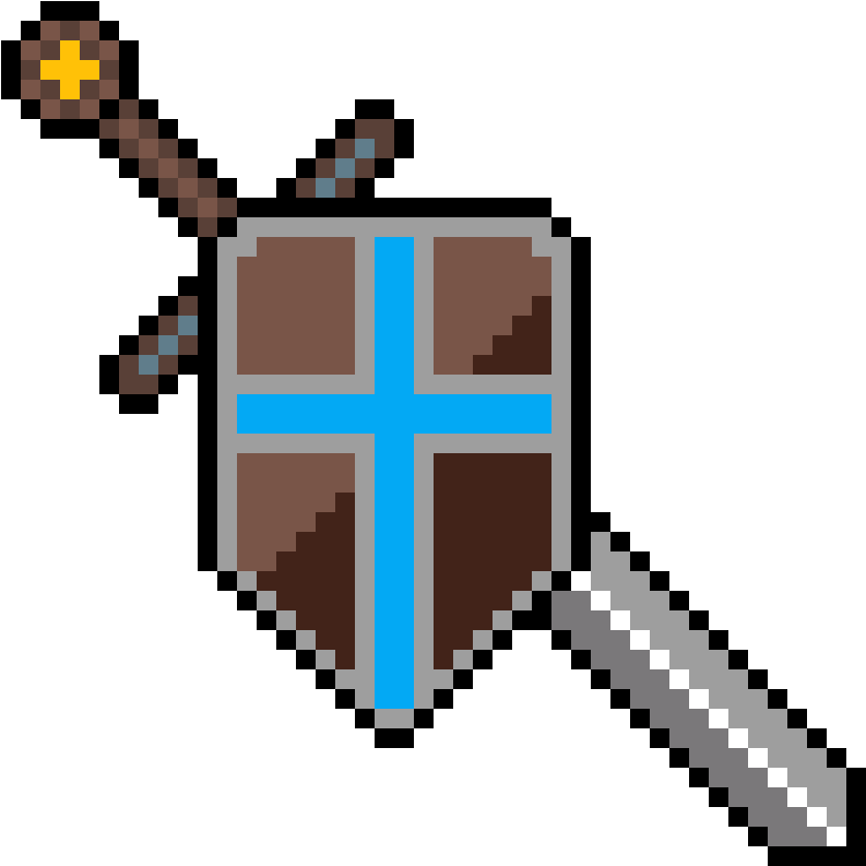Transparent sword and shield clip art - Microfono Hama Beads
