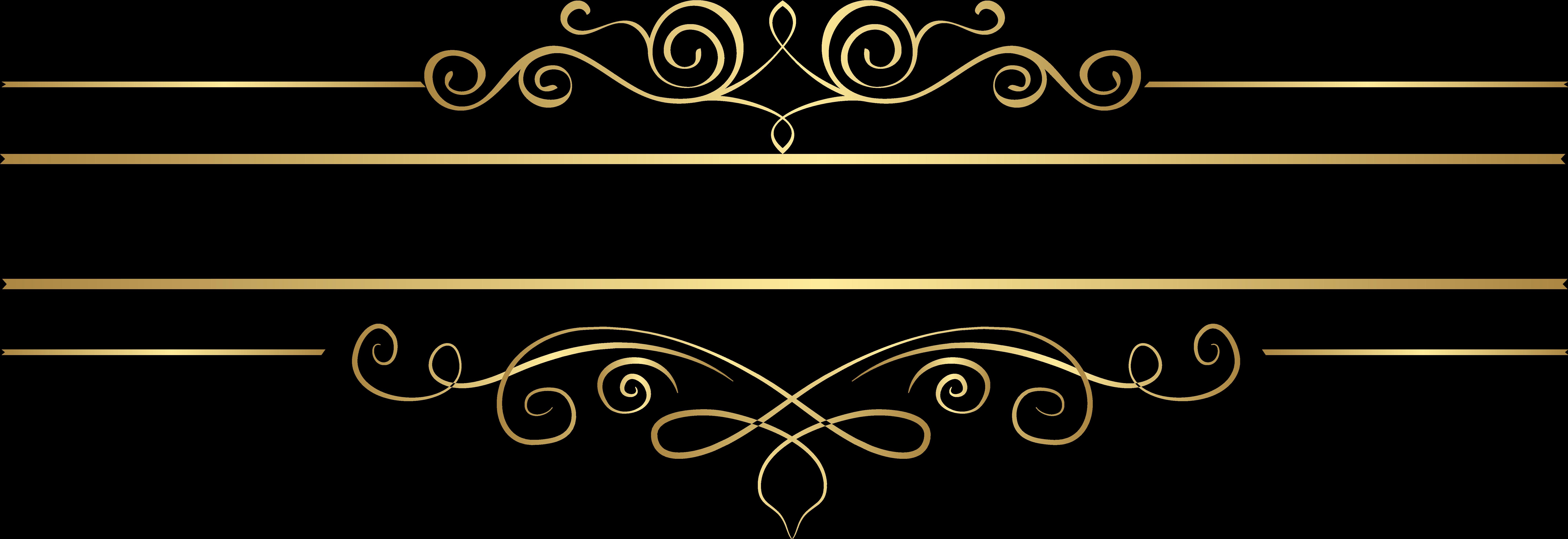 Transparent line clipart - Decorative Element Transparent Clip Art Gallery Yopriceville - Gold Decorative Lines Png