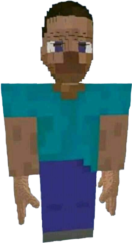 Minecraft Meme Pixelart Steve Minecraft Steve Round Head