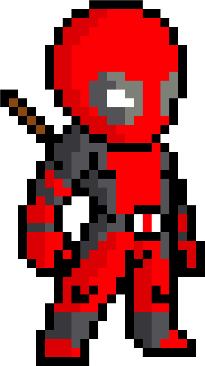 Transparent free minecraft clip art - Symbol Deadpool Art Minecraft Pixel Free Download Png - Pixel Art Spider Man