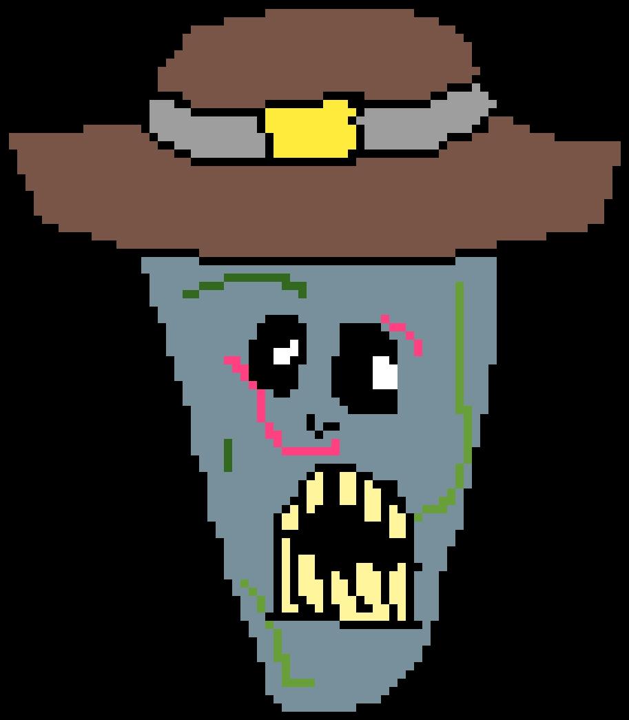 Transparent zombie head clip art - Cartoon