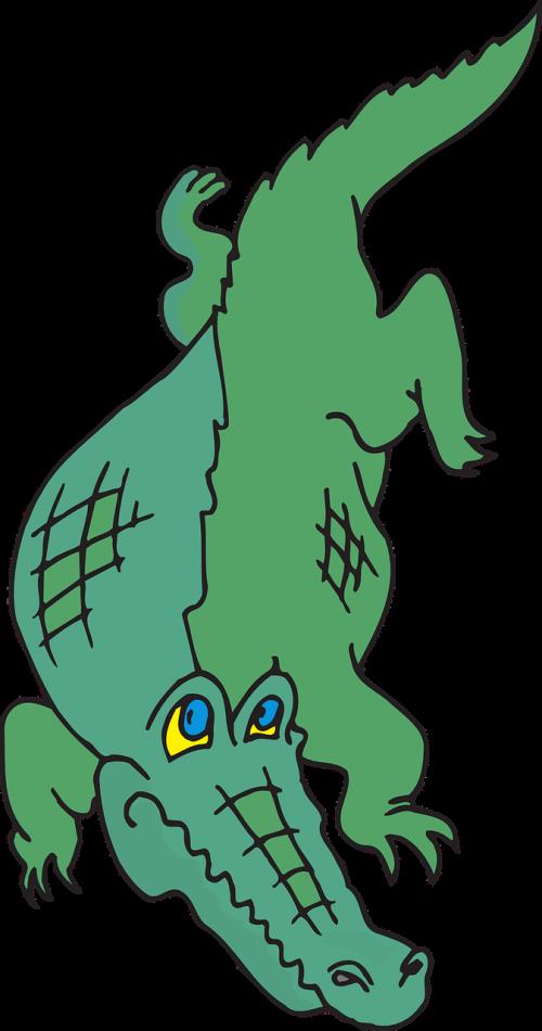 Transparent alligator clipart - Walking Tail Claws - Animasi Hitam Gambar Buaya